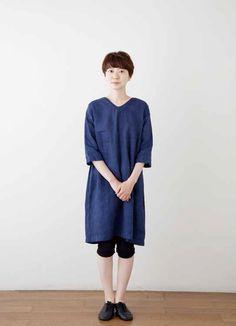 Crick & Watson - Ellen V Neck Tunic Fog Linen, Normcore, Tunic, V Neck, Style, Fashion, Swag, Moda, Tunics
