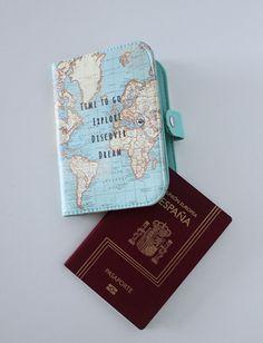 """Porta Pasaporte """"Mapamundi"""""""