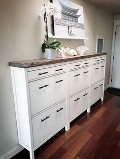 IKEA HEMNES Shoe cabinet hack , , You are in the right place about decoration salon murale Here we offer you the most beautiful pictures about the decoration salon canape you are looking for. When you examine the IKEA HEMNES Shoe cabinet hack , , … Hallway Storage, Ikea Storage, Storage Hacks, Bedroom Storage, Ikea Hallway, Ikea Entryway, Narrow Entryway, Hallway Ideas, Entryway Ideas Shoe Storage