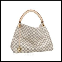 Louis Vuitton Artsy MM White Totes N41174 Make Every People Show His Or Her Own Style And Taste.