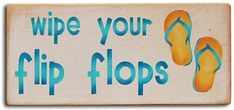 "Happy beach sandal sign with cute hand painted colorful flip flops. Great gift idea for your favorite flip flop lover! Sign Size = 6"""" w x 12"""" l Made in America hand painted"