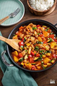 Slimming World Chicken Dishes, Slimming World Vegetarian Recipes, Slimming Recipes, Sweet And Sour Vegetables, Chicken And Vegetables, Fresh Vegetables, Chinese Chicken Recipes, Asian Recipes, Chicken Tenderloin Recipes