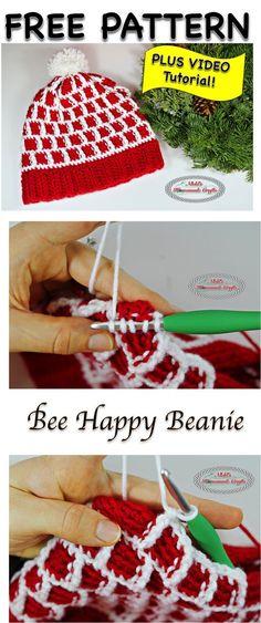 6baeca99b66 Bee Happy Beanie - Free Crochet Pattern