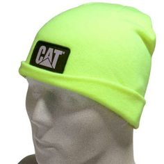 CAT Apparel Hats  1128116 407 Hi Vis Yellow Knit Cap. Hi Vis WorkwearWork  ... b2143ca2d05c