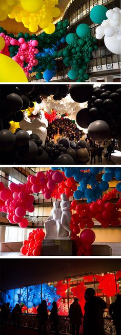 Inspiration: Geronimo Fills Lincoln Center with a Massive Balloon Installation for the New York City Ballet Baby Balloon, The Balloon, Balloon Garland, Balloon Decorations, Balloon Pictures, Balloon Installation, City Ballet, Happy Birthday Balloons, Colossal Art