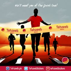 We'll meet you at the finish line! #TehzeebBakers