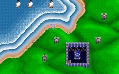 We played this a LOT as kids. Rampart on DOS PC.