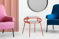 WALLY stolik pomocnik w stylu bauhaus polski design Mebloscenka Cafe Tables, Bauhaus, Loft, Chair, Furniture, Design, Home Decor, Coffee Tables, Decoration Home