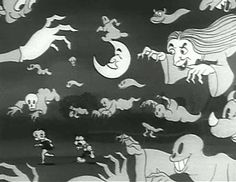 Oddball Films presents Vintage Halloween Hullabaloo , a program of vintage films to get us in the mood for All Hallows' Eve with cart. Halloween Cartoons, Halloween Gif, Halloween Pictures, Vintage Halloween, Depressed Aesthetic, Vintage Cartoons, Scary Games, Bride Of Frankenstein, Beautiful Gif
