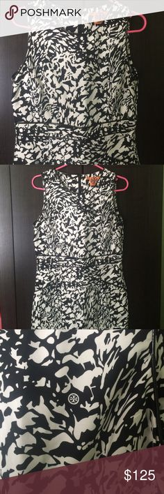 TORY BURCH DRESS TORY BURCH DRESS!!! Authentic ! Never worn, Size 10. Mint condition! Black & white print. Perfect for summer! Tory Burch Dresses Midi