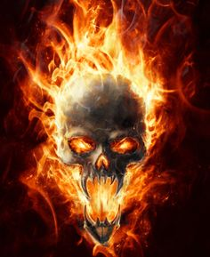 Skull Flames door wrap - Rm wraps Store - 2