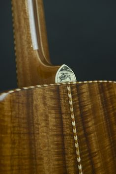 Asher Acoustic Guitar with custom scrimshaw art by Robert Asher