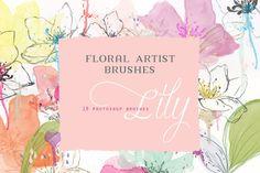 Floral Photoshop Brushes by CreateTheCut on Creative Market