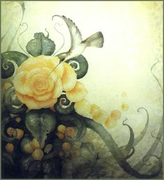"""The Hummingbird"" ~ Daniel Merriam ~ Watercolorist Extraordinaire"