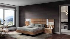 MUEBLES MUÑOZ - dormitorios actuales CATALOGO 5 Urban Furniture, Bed Furniture, Furniture Design, Sliding Door Wardrobe Designs, Camas King, Bedroom Bed Design, Contemporary Bedroom, Luxury Apartments, Wall Design