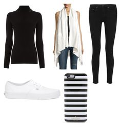 """Untitled #8"" by kcdilla04 on Polyvore featuring Warehouse, Raison D'etre, rag & bone, Vans and Kate Spade"