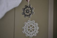 crochet gears ornament - Steampunk Ornament Swap ORGANIZED CRAFT SWAPS on Craftster.org
