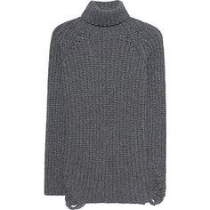 AVANT TOI Maglia London Bridge // Cashmere knit pullover (47.510 RUB) via Polyvore featuring tops, sweaters, turtle neck sweater, grey turtleneck, gray pullover sweater, grey turtleneck sweater и grey pullover