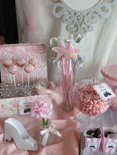 Princess birthday party treats and favors!  See more party planning ideas at CatchMyParty.com!