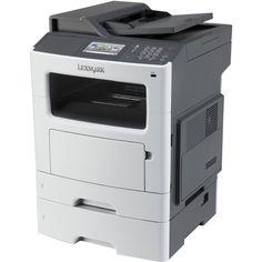 Lexmark - Laser Multifunction Printer - Monochrome - Plain Paper Print - Desktop - White