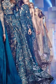 Elie Saab Haute Couture Fall 2015 - THAT color ! - SILVANA Aug. 20. 2015