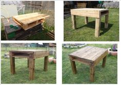 Table From Recycled Pallet Wood