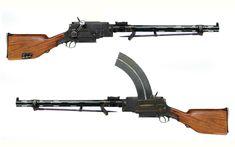 Madsen Light Machine Gun - Denmark - produced 1902-  Caliber 6.5mm - 25, 30, or 40 round box magazine - 450 rpm