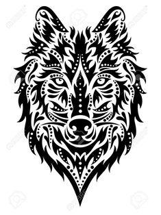 Muster In Einer Form Eines Wolfes Auf Dem Weißen Hintergrund. Lizenzfrei Nutzbare Vektorgrafiken, Clip Arts, Illustrationen. Image 31557961.