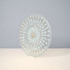 Vintage Higgins Fused Art Glass Plate Classic by MidModMomStore
