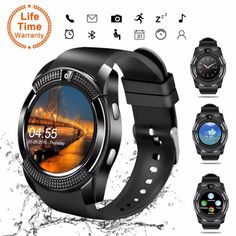 👍 V8 SmartWatch Touch Screen with Camera/SIM Card Slot - RD Trend
