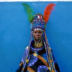Ndebele woman in Mpumalanga, South Africa by Margret Courney-Clarke. African Tribes, African Women, African Art, Tribal African, African Beauty, African Fashion, Namaste, Costume Africain, Singular