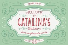 Catalina Font Family from @kimmydesign 90% off. Get all 34 fonts for just $25.
