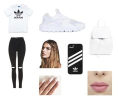 """School outfit"" by yasminael on Polyvore featuring mode, adidas Originals, Topshop, NIKE, Mansur Gavriel, adidas en Free People"