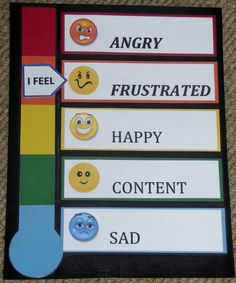 Emotional Thermometer/Feeling Thermometer/Mood Thermometer: Limited Emotions. $4.00, via Etsy.