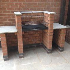 BRICK BBQ KIT WITH STAINLESS STEEL GRILL BBQ KIT + WARMING RACK