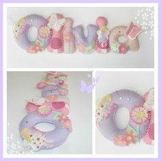 Personalised fairy garden felt name garland/banner.  (www.facebook.com/thebannerboutique)