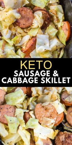 Oct 2019 - This Keto Sausage and Cabbage Skillet is ready in under 20 minutes and has less than 6 carbs per serving! Need an easy low carb, one pan dinner? I�ve got you covered with this low carb recipe! Healthy Pasta Recipes, Healthy Pastas, Healthy Dinner Recipes, Low Carb Recipes, Diet Recipes, Breakfast Recipes, Breakfast Hash, Breakfast Casserole, Dessert Recipes