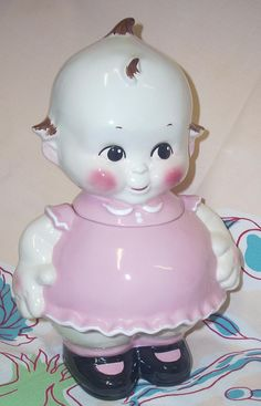 Sweet Kewpie Doll cookie jar$159.00/This was taken at Jazz'e Junque in Chicago ~ www.jazzejunque.com