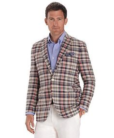 65a50426a9e Brooks Brothers two-button madras sport coat