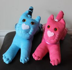 Cute little sock kitties!Easy to make