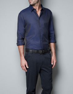 TWILL T-SHIRT WITH PIPING - Shirts - Man - ZARA $59.90