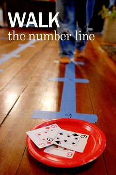 Could try with fractions.Walk the number line activity for preschoolers to help recognize and count numbers Number Line Activities, Number Recognition Activities, Preschool Activities, Number Games Preschool, Addition Activities, Number Activities For Preschoolers, Number Games For Kids, Number Line Games, Open Number Line
