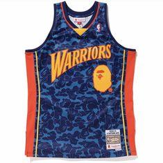1365d3687fc Golden State Warriors 09 10 BAPE M N Retro 100% Authentic Jersey