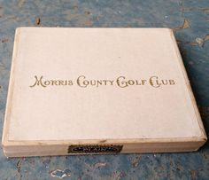 Vintage 1937 Morris County Golf Club Private Label Cigarette Pack with Tax Stamp by vavoombisbee on Etsy