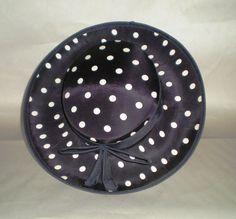 Vintage 1940's Hat - Saucer Style Dots Hat