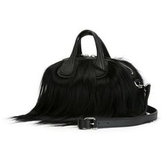 Givenchy Nightingale Tote (15.925 BRL) via Polyvore featuring bags, handbags, tote bags, fur handbags, givenchy handbags, top handle purse, tote handbags e tote hand bags