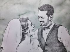 Excited to share the latest addition to my #etsy shop: Custom Couple Portrait, Weeding or Anniversary Gift, Romantic Personalized Art From Photo, Bridal Pencil Portrait https://www.etsy.com/listing/569941004/custom-couple-portrait-weeding-or?ref=shop_home_active_2