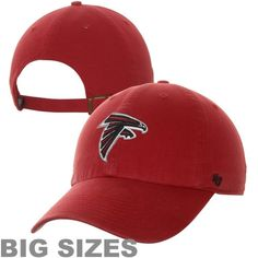 47 Brand Atlanta Falcons Big Sizes Cleanup Adjustable Hat - Red 8f3ae28e0
