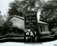 Garden Of Allah Hotel In West Hollywood the famous complex was the home of among others, Errol Flynn, The Marx Bros, Dorothy Parker and F. Scott Fitgerald.  It was torn down in 1959.  :(