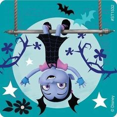 Meet the newest neighbor from Transylvania - Vee! Young kids will love the stickers in this assortment featuring characters from the hit Disney Junior show Vampirina. SmileMakers is the place to shop for the prizes you know they'll stickers per u Disney Junior, Disney Jr, 4th Birthday Parties, 5th Birthday, Good Night Greetings, Disney Princess Party, Disney Birthday, Floral Invitation, Birthday Party Favors